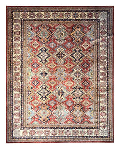 "Super Kazak 9' 2"" x 11' 9"" Handmade Area Rug - Shabahang Royal Carpet"
