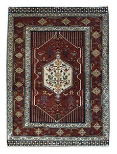"Persian Gabbeh 4' x 5' 5"" Wool Handmade Area Rug - Shabahang Royal Carpet"