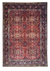 Antique Persian Bakhtiari 10' x 14' Handmade Area Rug - Shabahang Royal Carpet