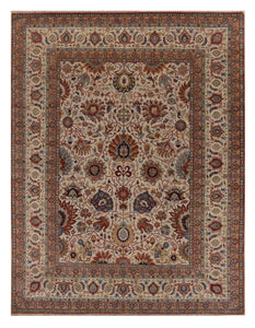 "Traditional 4' x 5' 10"" Wool Handmade Area Rug - Shabahang Royal Carpet"