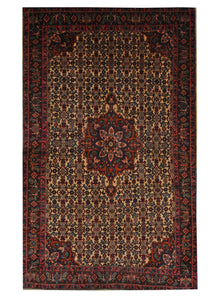 "Vintage Persian Sarouk 4' 2"" x 6' 10"" Handmade Wool Area Rug - Shabahang Royal Carpet"