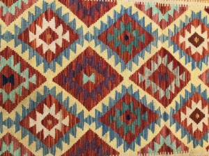 "Handmade Colorful Kilim 2' 9"" x 4' 4"" - Shabahang Royal Carpet"