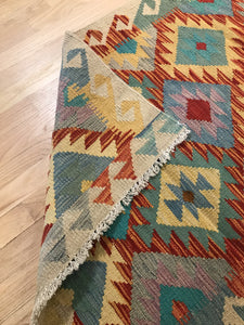 "Handmade Colorful Kilim 2' 9"" x 3' 10"" - Shabahang Royal Carpet"