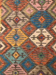 "Handmade Colorful Kilim 4' x 5' 11"" - Shabahang Royal Carpet"