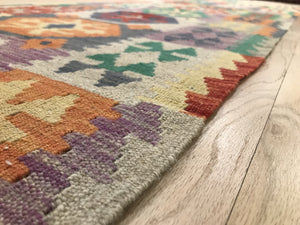 "Handmade Colorful Kilim Runner 2' 4"" x 9' 10"" - Shabahang Royal Carpet"
