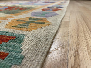 "Handmade Colorful Kilim Runner 2' 8"" x 9' 8"" - Shabahang Royal Carpet"