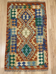 "Handmade Colorful Kilim 2' 6"" x 4' 2"" - Shabahang Royal Carpet"
