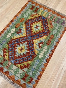 "Handmade Colorful Kilim 2' x 2' 11"" - Shabahang Royal Carpet"