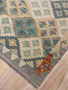 "Vintage Style Colorful Kilim 4' 3"" x 5' 10"" - Shabahang Royal Carpet"