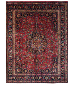 Semi-Antique Persian Mashad 10' x 13' Handmade Area Rug - Shabahang Royal Carpet