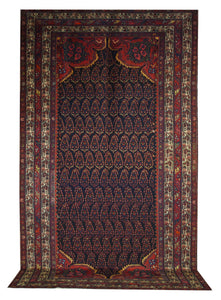 "Antique Persian Malayer 6' 8"" x 11' 8"" - Shabahang Royal Carpet"