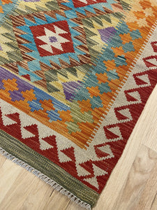 "Handmade Colorful Kilim Runner 2' 8"" x 9' 7"" - Shabahang Royal Carpet"