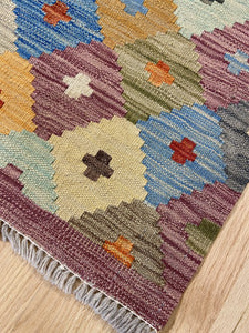 "Vintage Style Colorful Kilim 4' 2"" x 5' 9"" - Shabahang Royal Carpet"