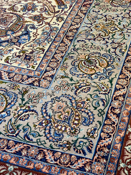 "Persian Esfahan 10' 3"" x 14' 2"" Handmade Area Rug - Shabahang Royal Carpet"