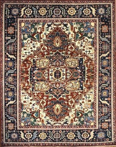 Heriz 8' x 10' Handmade Area Rug - Shabahang Royal Carpet