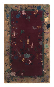 "Antique Chinese Nichols Rug 4' 1"" x 6' 10"" - Shabahang Royal Carpet"