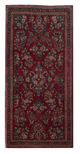 "Antique Persian Sarouk 2' x 4' 1"" Red Handmade Area Rug - Shabahang Royal Carpet"