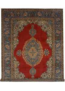 "Vintage Persian Qum 8' 5"" x 11' 5"" Handmade Area Rug - Shabahang Royal Carpet"