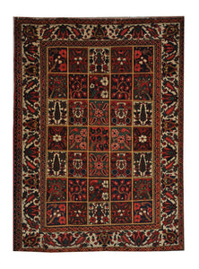 "Antique Persian Bakhtiari 5' 5"" x 7' Handmade Wool Area Rug - Shabahang Royal Carpet"
