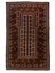 "Balouchi Tribal 2' 9"" x 4' 5"" Wool Handmade Area Rug - Shabahang Royal Carpet"