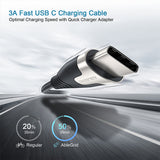 USB C to USB C Fast Charging Cable, AbleGrid 6.6Ft Type C Charger Cord Compatible with Samsung Galaxy S21/S21+/S20+ Ultra, Note 20/10 Ultra, MacBook Air/Pro, iPad Pro 2020/2018, iPad Air 2020, Pixel-Grey