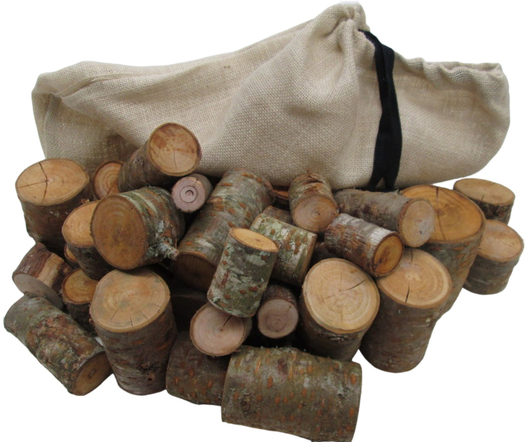 Natural wood stacking blocks for heuristic play