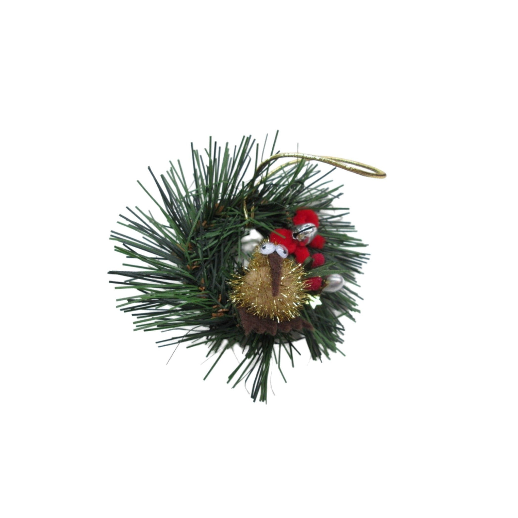 christmas kiwi decoration on wreath made in new zealand