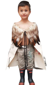 Graduation cottom cloak with feathers
