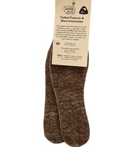 Possum and Wool mix innersole or shoe liner