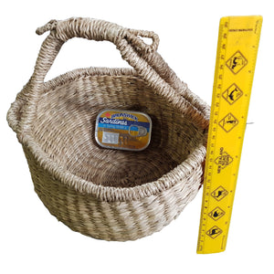 Seagrass basket for carrying and craft