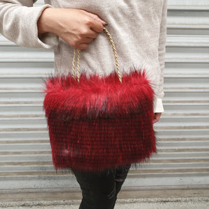 Fur Bag RED