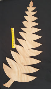 Silver fern New Zealand wooden laser cut out
