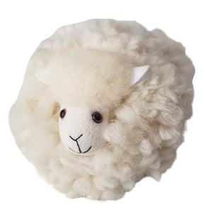 Pure wool toy sheep made in New Zealand