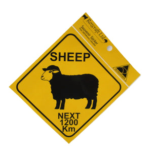 Sticker; Sheep Roadsign