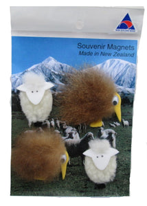 Kiwi magnet scenery with sheep