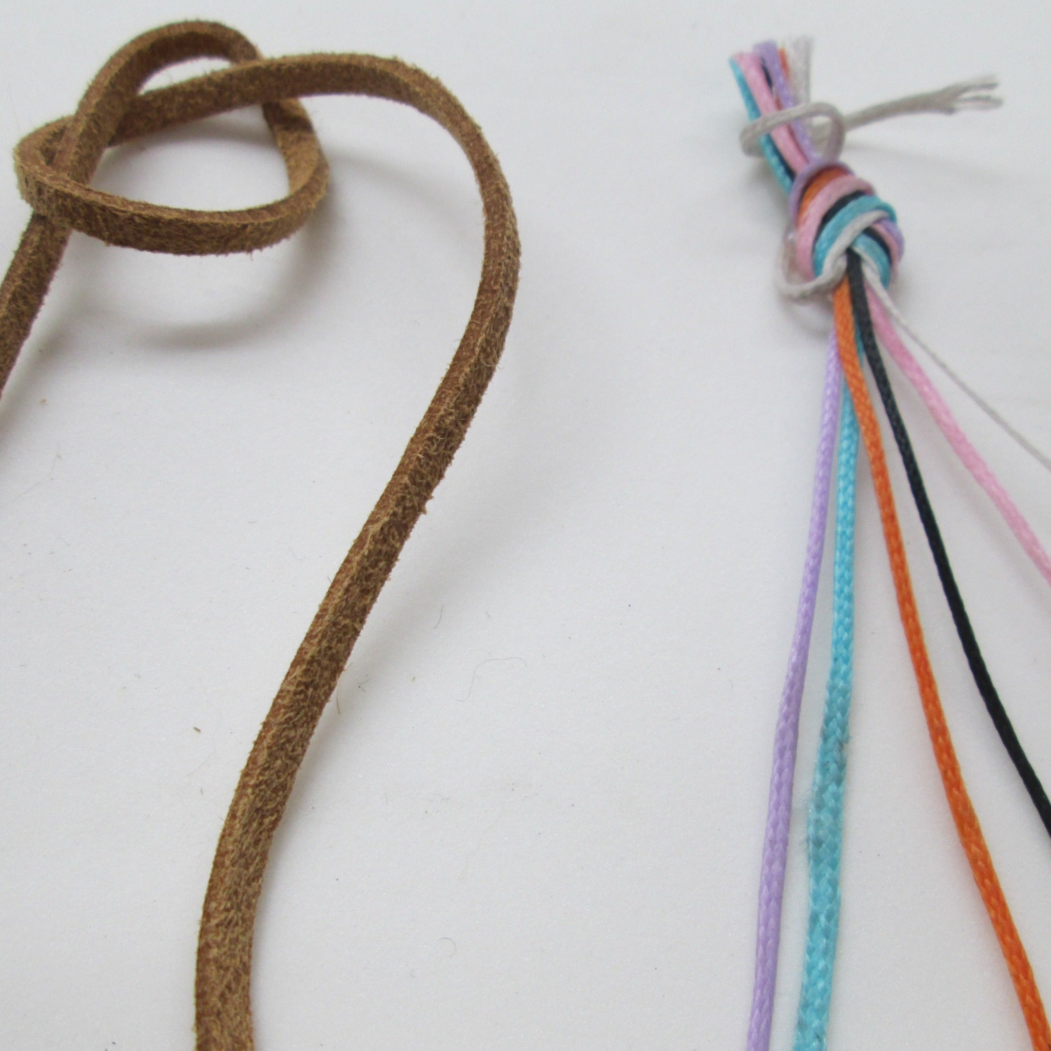 Bead threading materials and necklace making cords