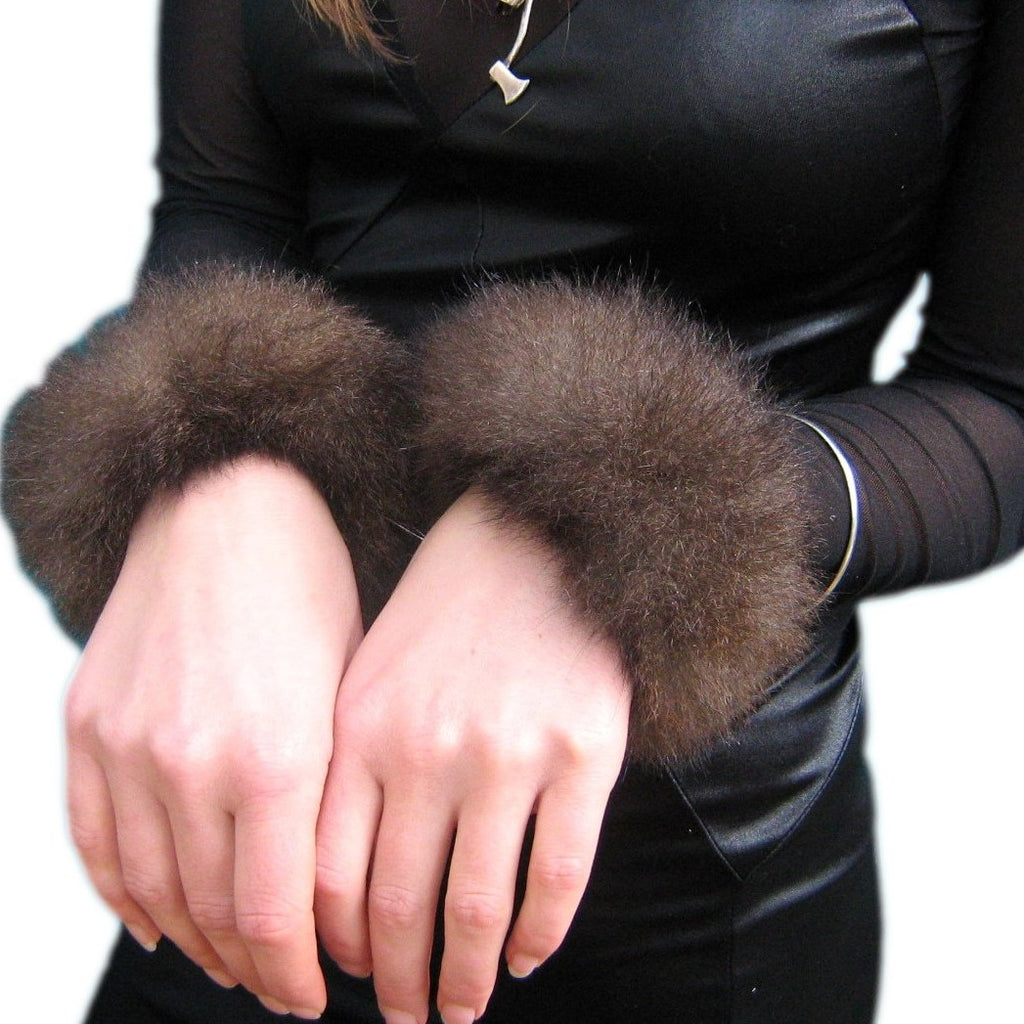 Possum fur cuffs