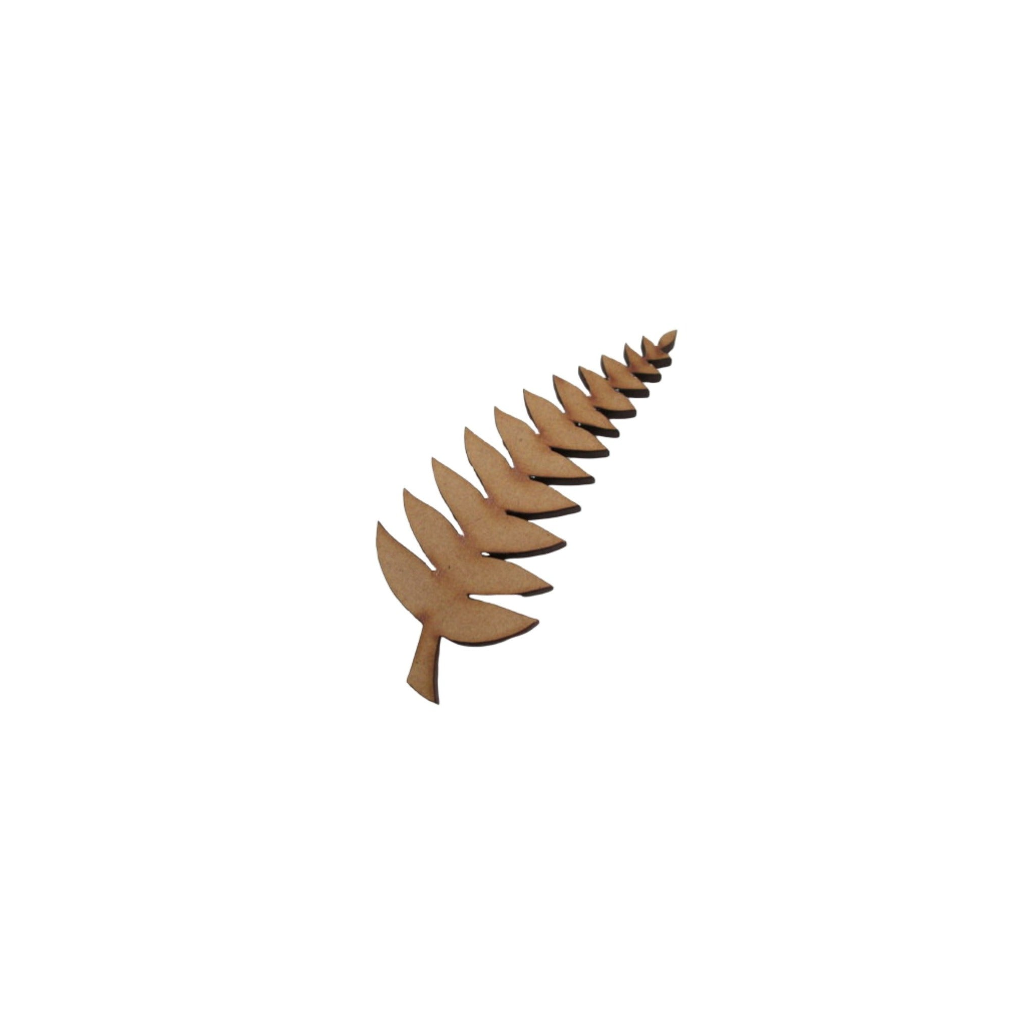 new zealand fern shape wooden