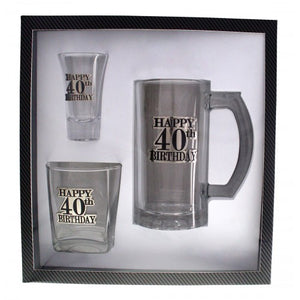 40TH BIRTHDAY BADGED GIFT PACK