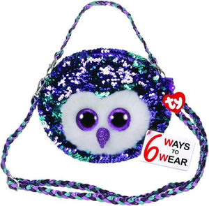 TY MOONLIGHT PURSE WITH BRAIDED STRAP
