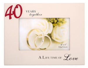 40 YEARS TOGETHER PHOTO FRAME 4X6