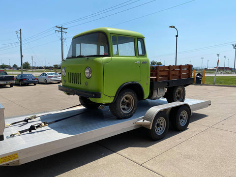 The '57 Willys before Alan's restoration.