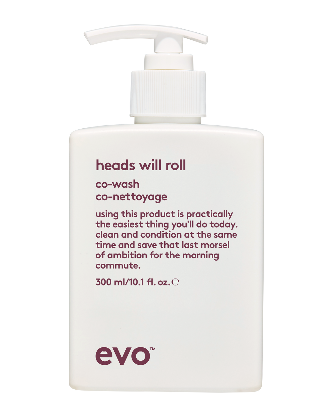 evo heads will roll co-wash 300ml