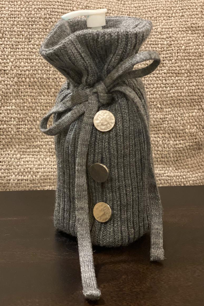 Sanitiser Bottle Cover (Wool Knit)