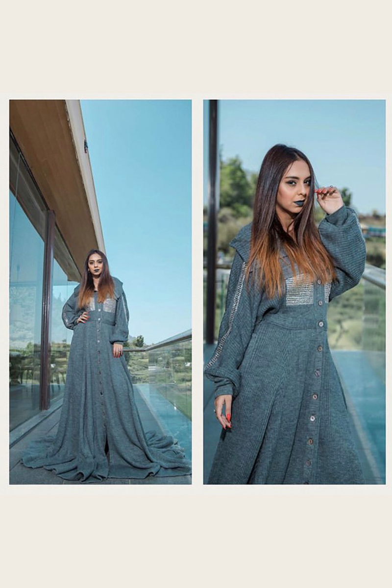 AANAM C IN KNIT SHIRT GOWN
