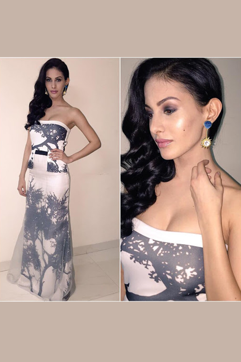 Amyra Dastur In Tree Of Life Tube Dress