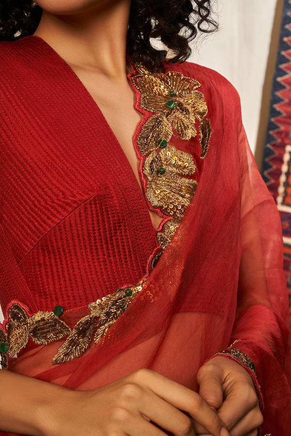 SAREE WITH BAROQUE HANDWORK