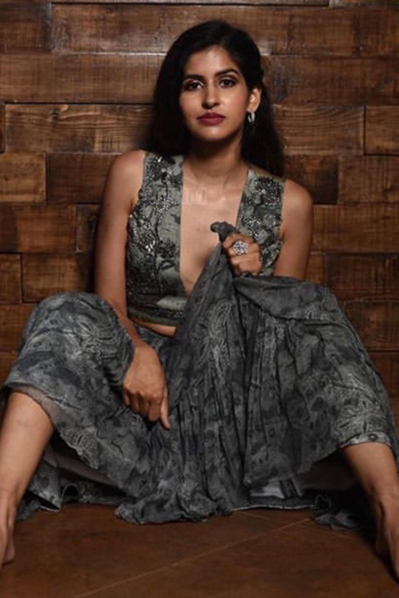 Sakshi Malik In Rumi Print Tier Skirt
