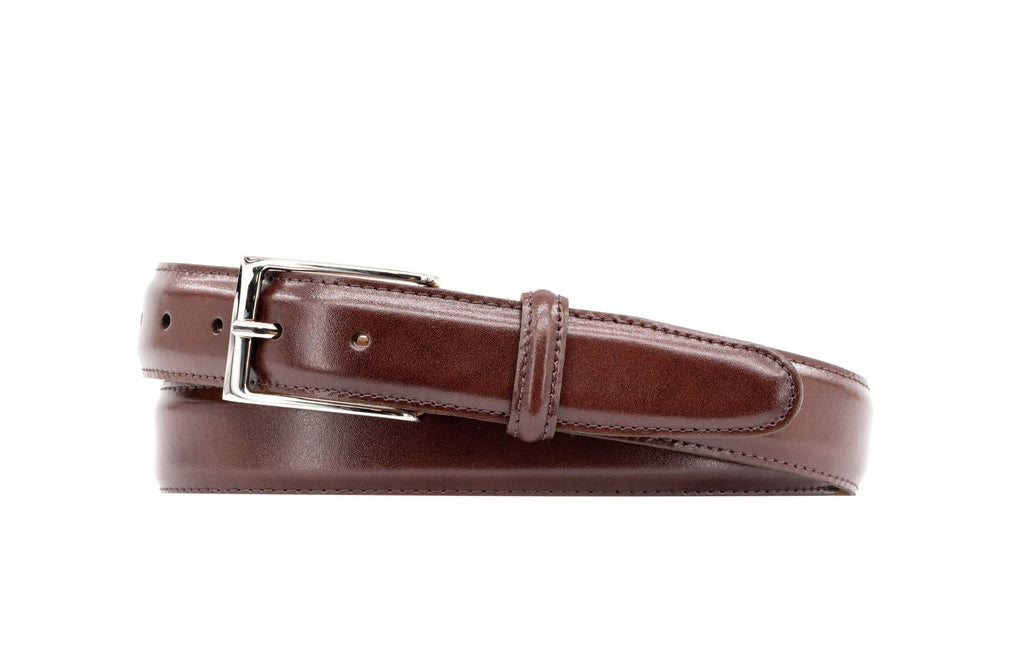 Smith 2 Buckle Coachman Leather Belt - Luggage