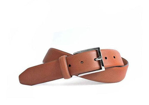 Addison Tumbled Glove Leather Belt - Saddle Tan